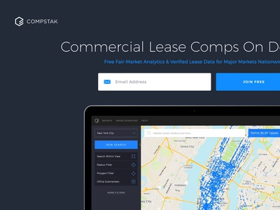 CompStak landing page