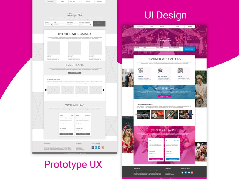 Prototype UX or UI Design ui design ux design user experience user interface web template illustration design branding website ux typography template design ui