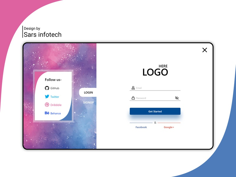 Login Form website design inspiration branding ui template design sars infotech design typography login design login screen login page login form