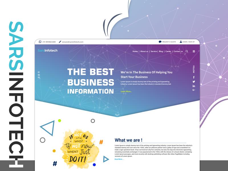 User-friendly attractive Design Inspiration of Sars Infotech ux particles template design live demo website live demo website ui branding animation typography design