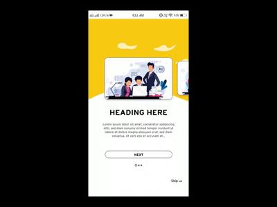 App Intro Design slider vector app intro anmation splash screen animation animation ux ui app design app welcome screen app splash screen design simple app intro splashscreen