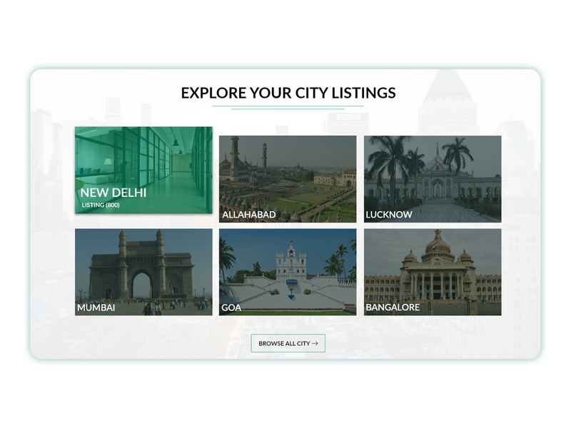 Explore Your City Listings Layout website layout typography website business listing layout template design design branding city city listing