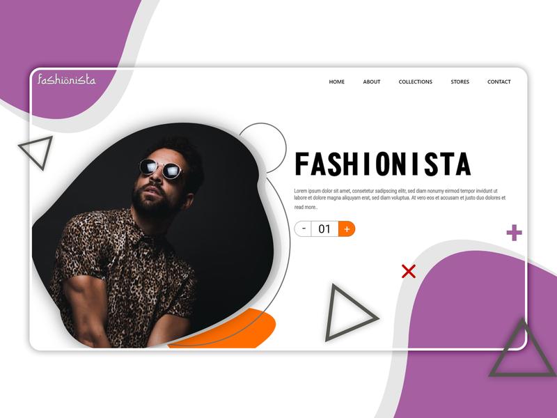 Web Design Inspiration color combination landing design landing page fashion sars infotech ux ui icon vector illustration typography website template design branding