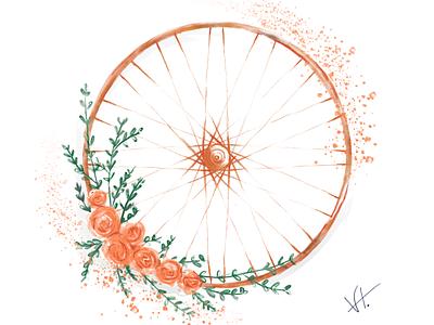 A cyclists delight visual design digital art adobe fresco