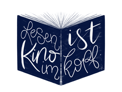 Kopfkino digital art kalligraphie procreate book cover lettering