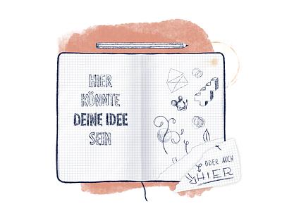No Idea? content creation sketching graphic design digital art mixed media procreate