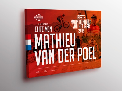 Best Dutch Mountainbiker 2019 Award award graphic design mountainbike mathieu van der poel