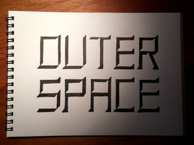 Handlettering Outer Space handlettering