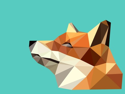 Polyfox 2 fox low poly