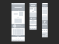 Product page wireframe for Schibsted Publishing Tech Sweden