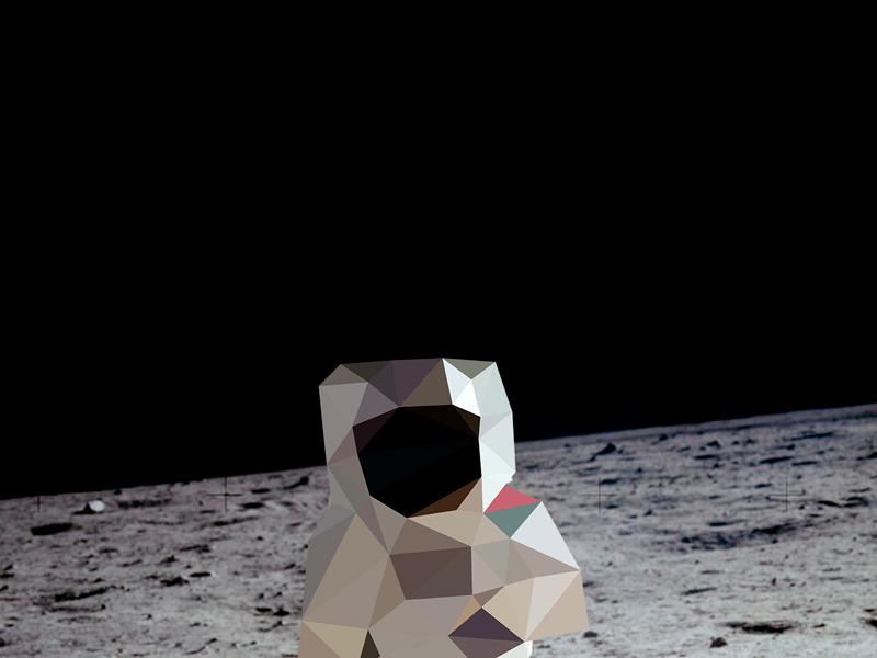 Poly Austronaut astronaut space poly