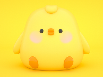 Little Yellow Chicken colorful render rendering cartoon cinema4d octanerender octane 3d
