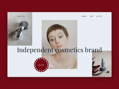 Cosmetics Brand Site aesthetic online store online shopping ux ui design beauty online shop shop store cosmetic cosmetics website