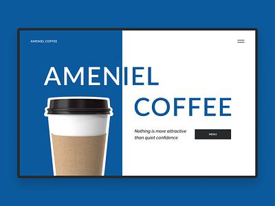 Ameniel Coffee coffeeshop coffee store online store online shopping online shop website ux ui design