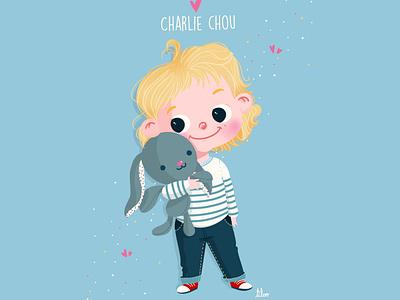 charlie babyboy baby kiddo kid cute illustrator procreate art ipadpro digital illustration digitalart character illustration