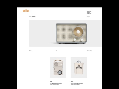 Dieter Rams: Items Catalogue online store minimal product interaction fan art identity typogaphy editorial dieter rams