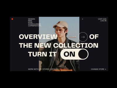 Online Store: New Collection identity brand style sale fashion type art typedesign typogaphy typeface store