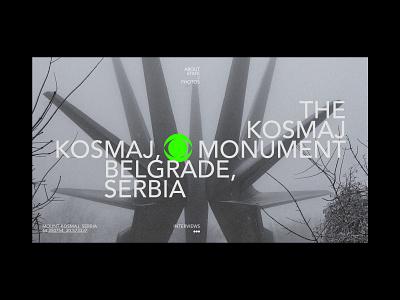 Concept: Kosmaj Monument brutalist swiss grid minimal interaction fan art editorial brand identity typogaphy monument