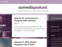 Go Media Podcast Web Site
