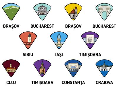 Romanian Cities Icons