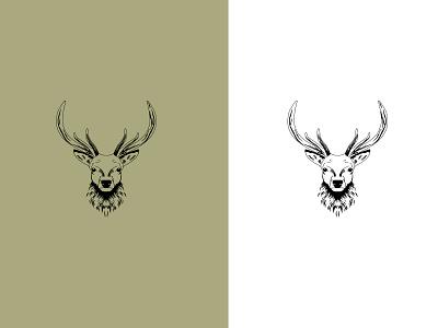 deer animal mascot deer flat icon animation branding vector logo illustrator illustration graphic design design art