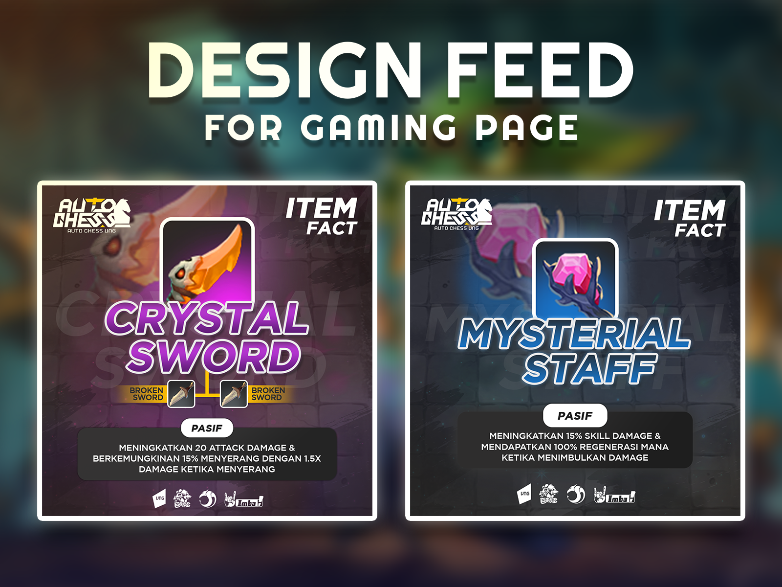 Design For Social Media Game Fanpage Feed Post By Nanda Syah On Dribbble