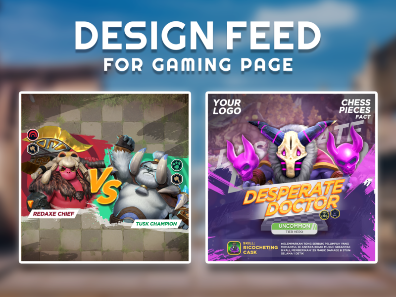 Design for social media game fanpage feed & post 3