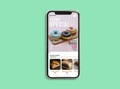 UI Mockup for Bread Store Apps