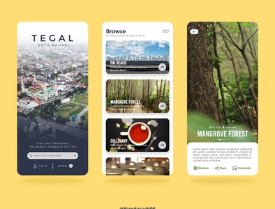 UI Mobile Apps For Traveling in Tegal City