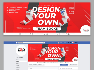 Facebook Cover Design for Sport Socks