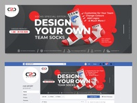 Facebook Cover Design for Sport Socks