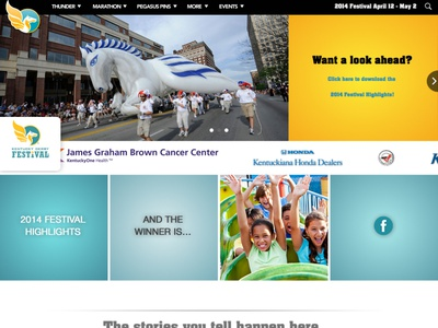 Kentucky Derby Festival Website (2014) minimal ux ui web developement web web design logo branding brand simple design clean