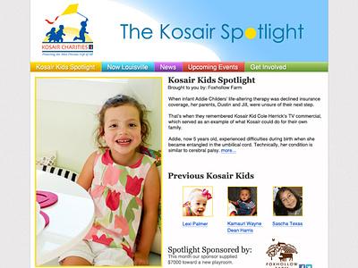 Kosair Charities Newsletter ux ui minimal branding brand simple design clean