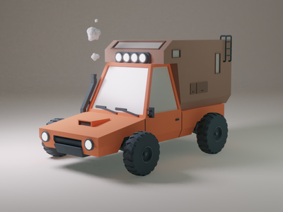 Low-poly truck animation truck car simple sketchfab blender 3d art 3d rendering render poly lowpoly low game art colors asset art vehicles vehicle