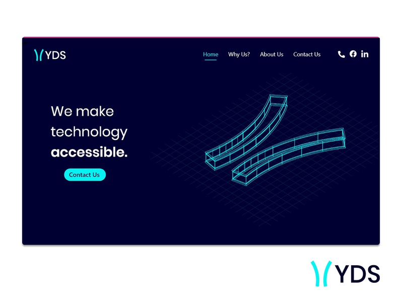 Landing Page design for YDS