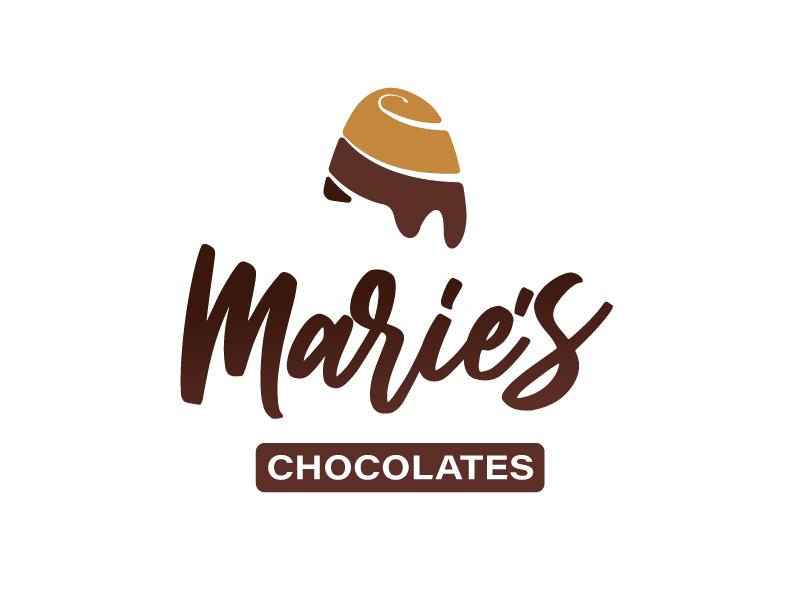 Maries chocolates logo stacked