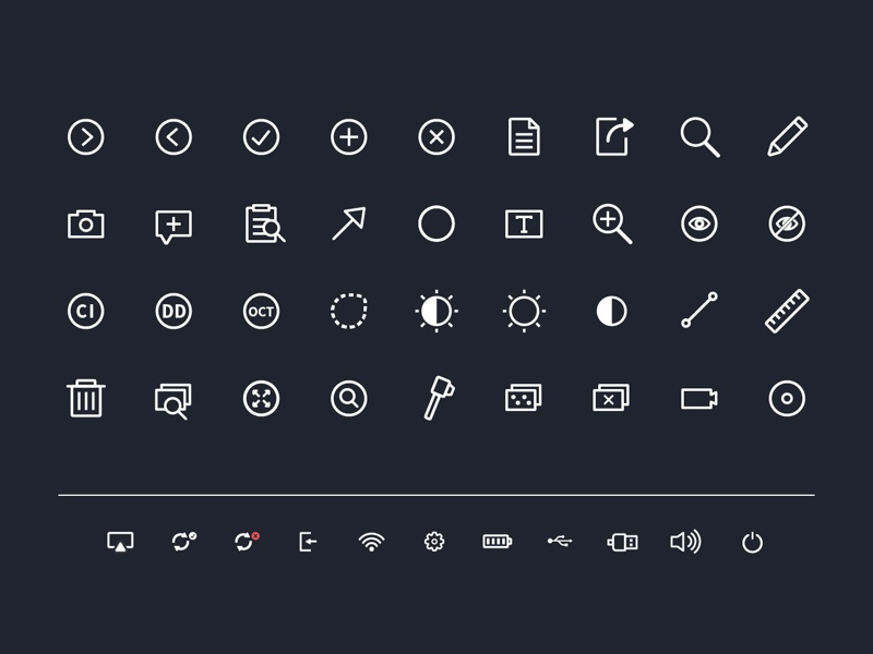 Icon set for medical device icons medical