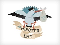 The Hipster Dad Blog illustration
