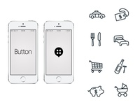 Button App Logo and icons