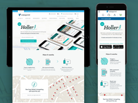 Holler product page