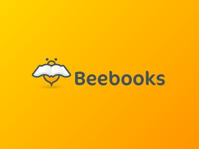 Logo Beebooks logo icon branding bee book yellow