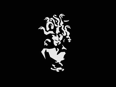 Branded Barber Identity medusa mark identity illustrator illustration vector logo branding