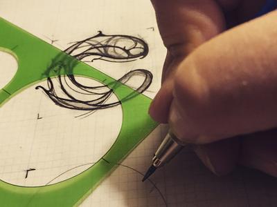 CPFilms Logo Process Sketch process sketch branding illustrator logo