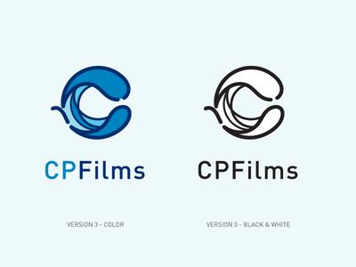 CPFilms Logo Proofs process sketch branding illustrator logo