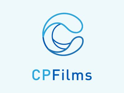 CPFilms Logo process sketch branding illustrator logo