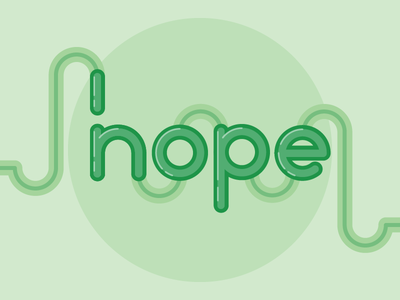 Hope/Nope Single Color monochrome flat illustrator lettering typography vector