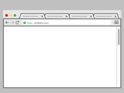 Chrome Browser Mock Up google chrome browser mockup ux web flat vector illustrator