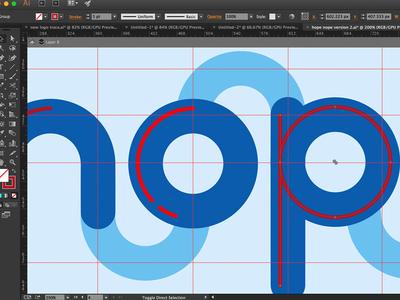 Hope Nope (In Progress Shot) screenshot process work in progress flat illustrator lettering typography vector
