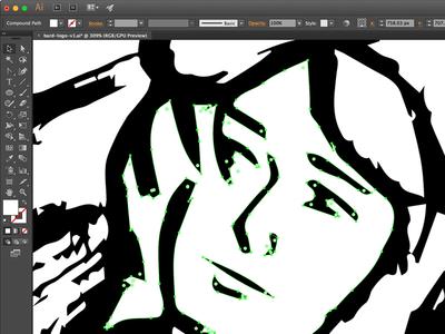 Cleaning up this little man wip identity branding brand logo vector illustrator