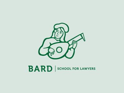 Bard Logo  illustration illustrator vector identity branding logo